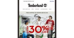[Timberland] No tricks! Get EXTRA 30% OFF on sale items