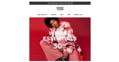 [Yoox] Ready for winter? 30% OFF