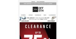 [Saks OFF 5th] There's no time like now to shop up to 75% OFF clearance