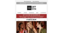 [Saks OFF 5th] Starts now: extra 40% OFF Alexander McQueen, Valentino & more + Shop personalized recommendations for you…