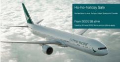 Cathay Pacific: Ho-Ho-Holiday Sale with Special Fares from SGD228 All-In to Tokyo, Bangkok, Seoul, Los Angeles & More!