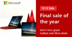 Microsoft: Final Sale of the Year on 12.12 with Great Deals on Surface and Xbox!