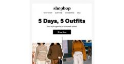 [Shopbop] A week's worth of outfits