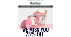 [SkinStore] It's Been a While… Save 25% + FREE 13-Piece Beauty Bag!