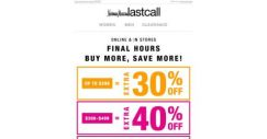 [Last Call] This is final: up to 50% off ENTIRE PURCHASE