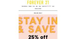 [FOREVER 21] Voted Most Popular