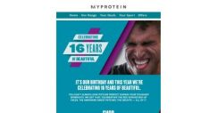 [MyProtein] Go on. Join in the celebration with 48% off  😍