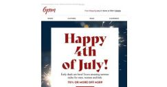 [6pm] Early 4th of July Sale!