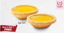 PrimaDeli: Buy 2 Egg Tarts and Get 1 Free!
