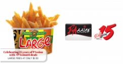 Potato Corner: Get a Large Fries at just $1.50 (UP $2.90) with PAssion Card!