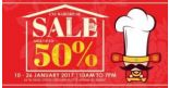 iChef: CNY Warehouse Sale Up to 50% OFF Snow Crabs, Scallops, Shrimps, Clams and More!