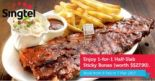 Singtel: 1-for-1 Half-Slab Sticky Bones at Morganfield's