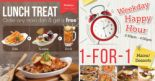 Swensen's: Weekday Offers – FREE Side, Sundae or Drink & 1-for-1 Mains/Desserts