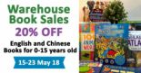 JSIM Education: Warehouse Book Sale with 20% OFF English & Chinese Books for 0-15 Years Old