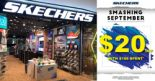 Skechers: Smashing September Promotion – Get $20 OFF with $108 Spent!