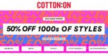 Cotton On: 50% OFF 1000s of Styles Online & In Stores!