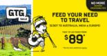 Scoot: GTG Sale with 2-to-Go Fares from $89 + $0 Processing Fees to Australia, India & Europe!