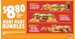 Burger King: Huat Huat Bundles at just $8.80!
