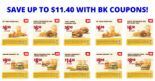 Burger King: Save Up to $11.40 with All NEW BK Coupons!