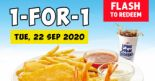 Long John Silver's: Flash to Redeem 1-for-1 Fish, Chicken & 3pc Shrimps Meal!
