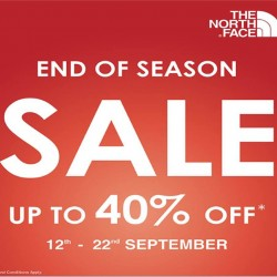 12-22 Sep,The North Face end of season sale