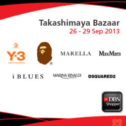 Additional 10% off sale items with your DBS/POSB Card at the Takashimaya Bazzar