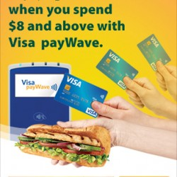 Visa and Subway Visa payWave Promotion