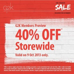 40% OFF Storewide! Mid Season Sale G2000 Members Preview
