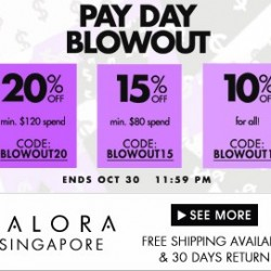 Up to 20% OFF! PAY DAY BLOWOUT by Zalora