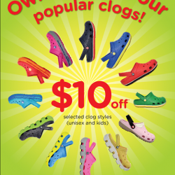 S$10 off by Crocs