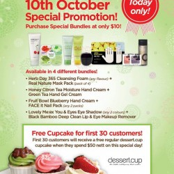 Special Bundles at S$10! One Day offer from The Face Shop