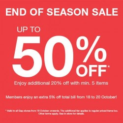 Up to 50% OFF and More! End of Season Sale by GAP