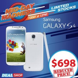 Only at $698.00! Samsung Galaxy S4 Flash Sale at Deal.com.sg