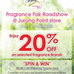 20% Off Selected Fragrance Brands! Fragrance Fair Roadshow by SaSa
