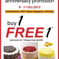 Buy 1 get 1 Free! Secret Recipe Anniversary Promotion
