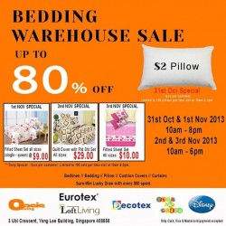 Up to 80% OFF! Oasis Living Bedding Warehouse Sale