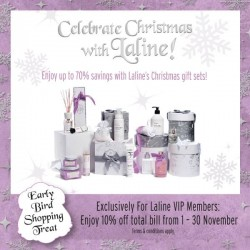 Up to 70% OFF! Celebrate Christmas with Laline