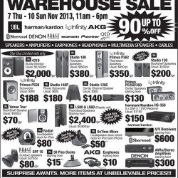 Up to 90% off! Audio House Sale