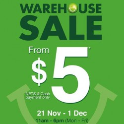 Starts from S$5! Bossini Warehouse Sale