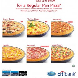 S$9.9 Regular Pan Pizza Promotion at Pizza Hut