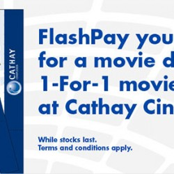 Cathay Cinexplexes 1-For-1 Ticket Promotion When You Pay With NETS FlashPay