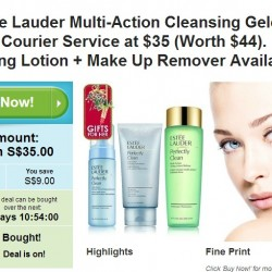 20% OFF Estee Lauder Multi-Action Cleansing Gelee with Courier Service at Groupon.sg