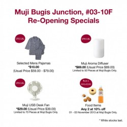Muji Bugis Junction Outlet Re-opening Special