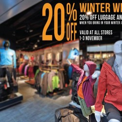 20% OFF! Luggage and Bags Promotion at The Planet Traveller