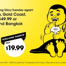 Scoot to Perth, Gold Coast and Sydney from S$49.99 , to HK and Bangkok from S$19.99