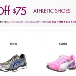 Athletic Shoes Promotion at Amazon