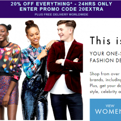 20% OFF Everything with Promotion Code 20EXTRA