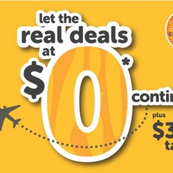 Fly with Tiger Airline for FREE (plus Tax)