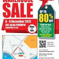 Up To 80% Off Badminton & Tennis Gear & Accessories! Yonex Warehouse Sale 2013