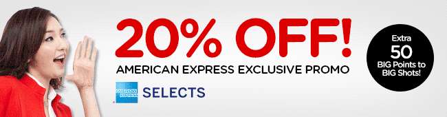 20% OFF! Exclusive promotion for American Express Card® Members at AirAsia